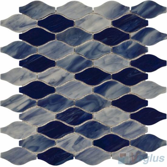 Blue Bottle Gourd Tiffany Glass Mosaic Tile VG-TF98