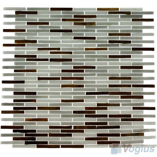 Gray Mixed Matrix Tiffany Glass Mosaic VG-TF90