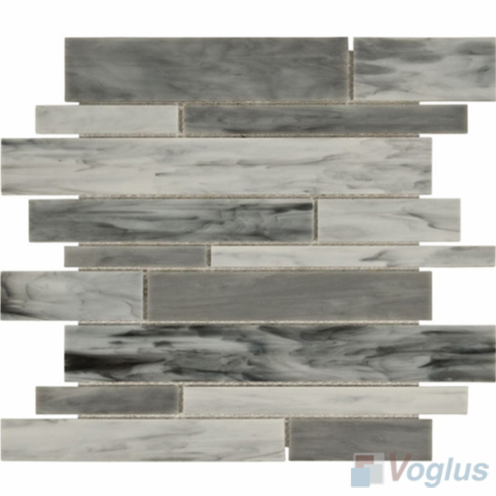 Gray Waterfall Tiffany Glass Mosaic Tile VG-TF91