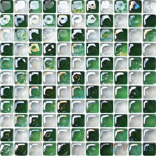 Green Iridesent Bead Glass Mosaic VG-UBD89