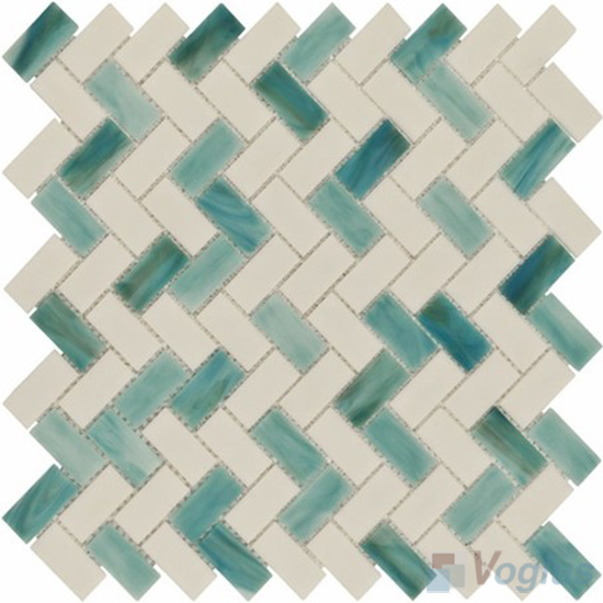 Herringbone Tiffany Glass Mosaic Tile VG-TF94