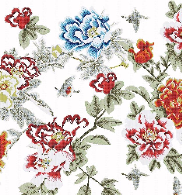 Mosaic Mural Flower Art Pattern VG-PAF79