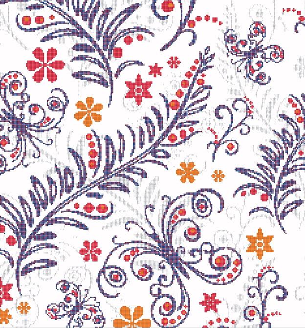 Mosaic Mural Flower Art Pattern VG-PAF83