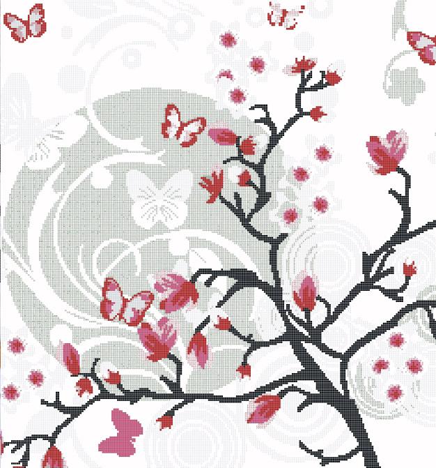 Mosaic Mural Flower Art Pattern VG-PAF84