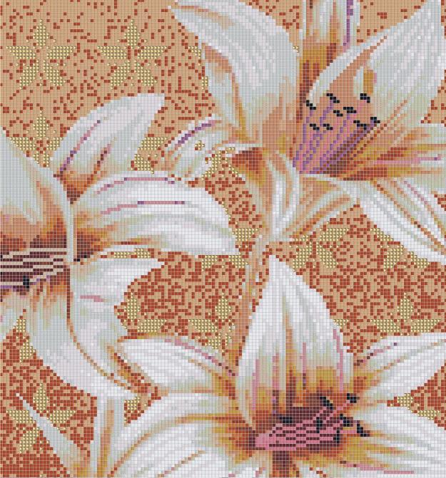 Mosaic Mural Flower Art Pattern VG-PAF85
