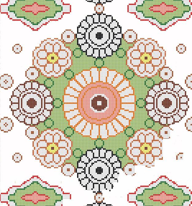 Mosaic Mural Flower Art Pattern VG-PAF87