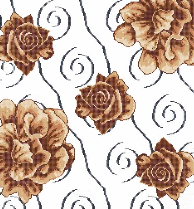 Mosaic Mural Flower Art Pattern VG-PAF88