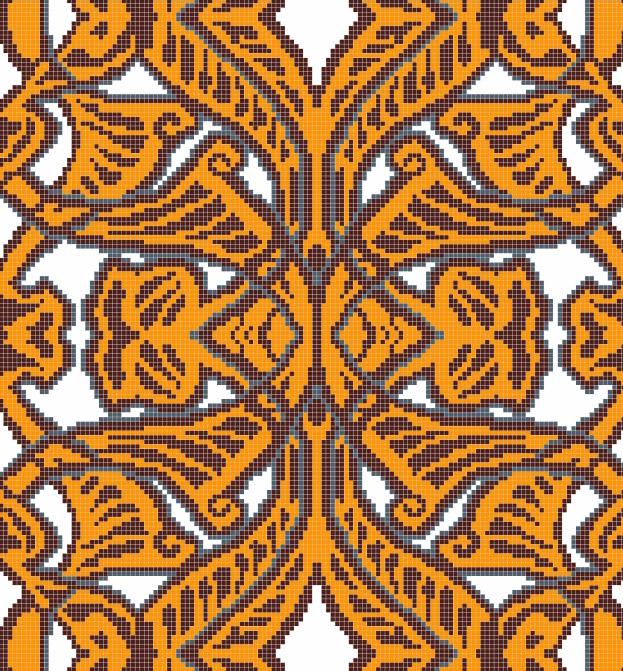 Mosaic Mural Flower Art Pattern VG-PAF90