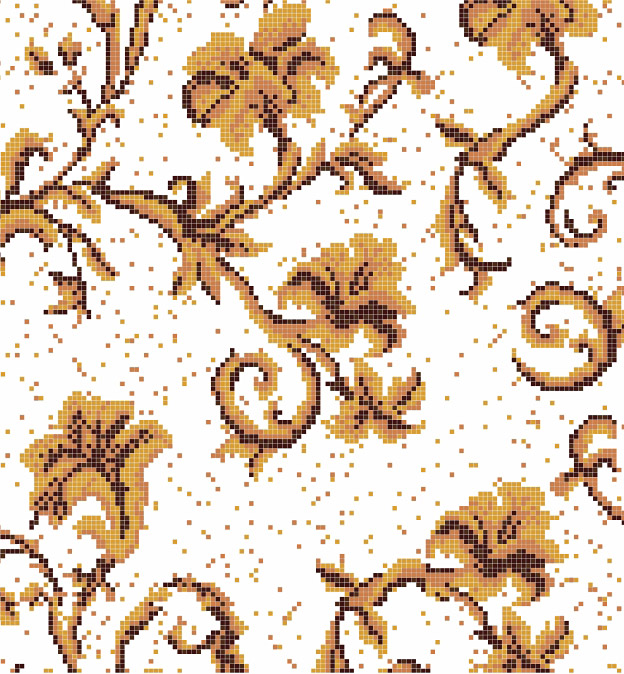 Mosaic Mural Flower Art Pattern VG-PAF92