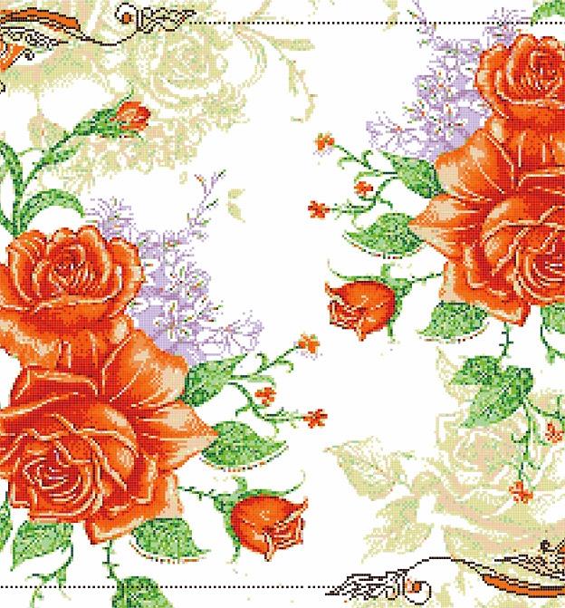 Mosaic Mural Flower Art Pattern VG-PAF98
