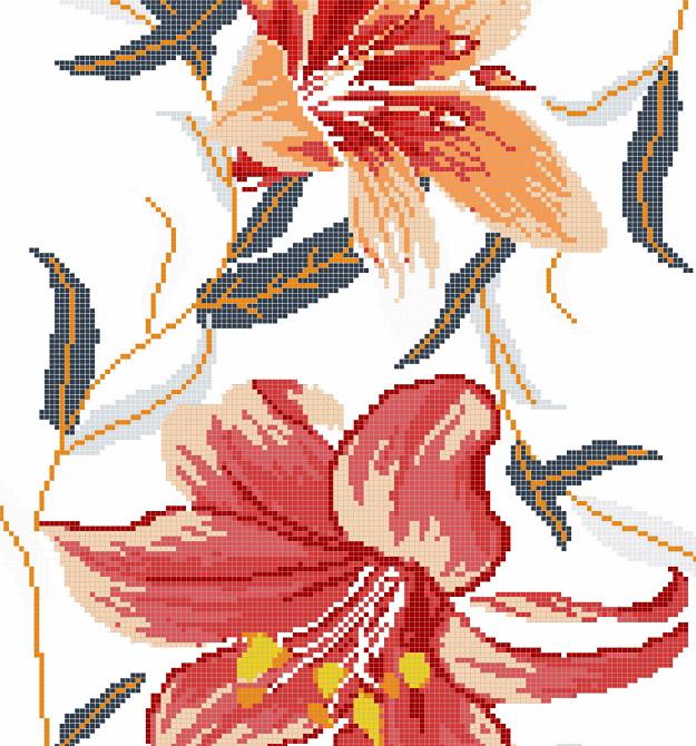 Mosaic Mural Flower Art Pattern VG-PAF99