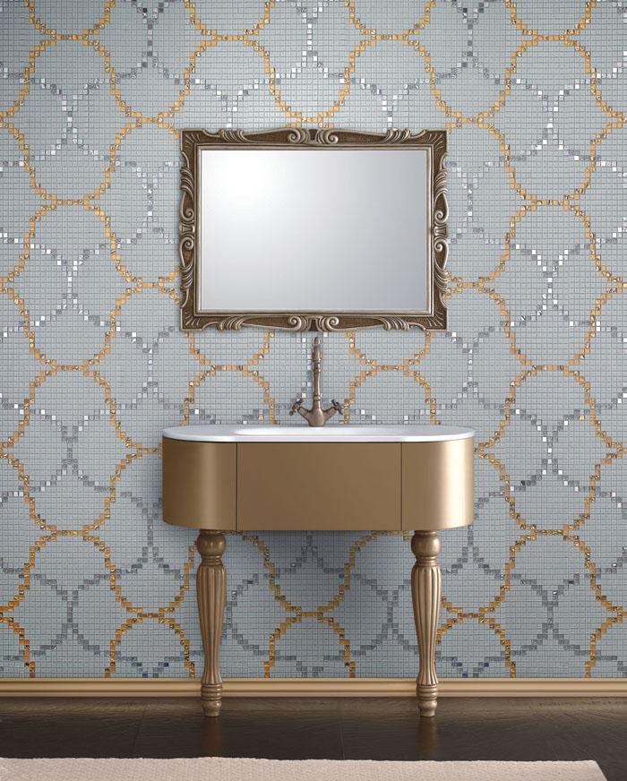 Mosaic Mural Repeated Art Pattern VG-PAR92