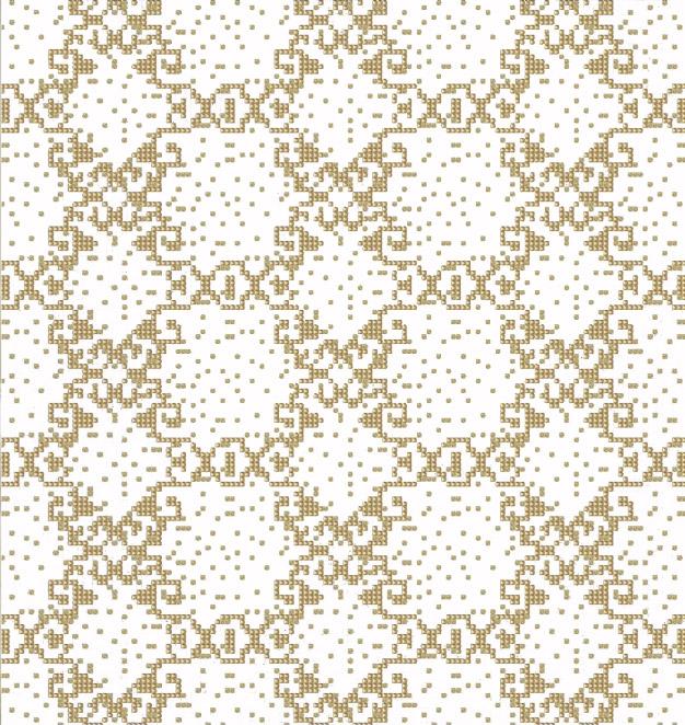 Mosaic Mural Repeated Art Pattern VG-PAR97