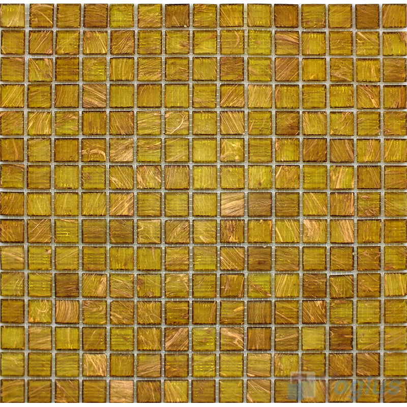 Onyx Tune 20x20mm Gold Line Glass Mosaic Tile VG-GLS91