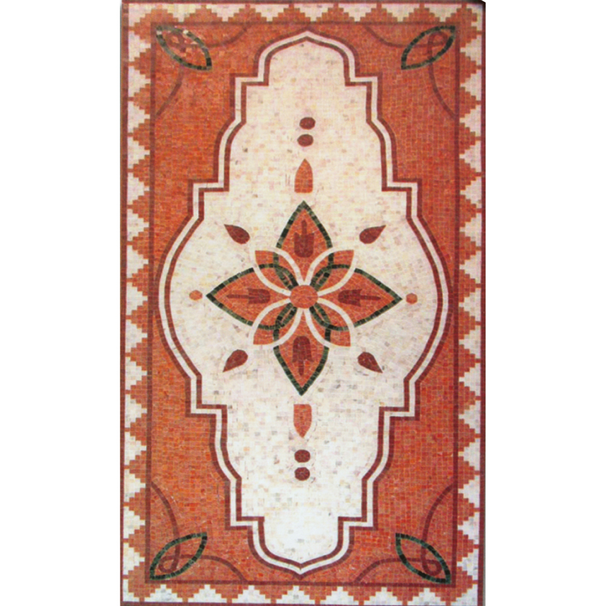 Rectangle Marble Mosaic Floor Rug VS-AFR98