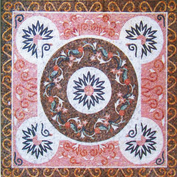 Square Marble Mosaic Floor Carpet VS-AFR83