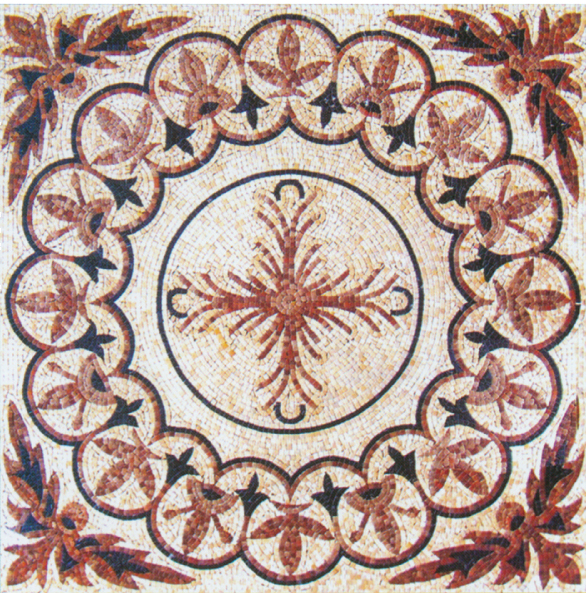 Square Marble Mosaic Floor Carpet VS-AFR84