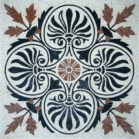 Square Marble Mosaic Floor Rug VS-AFR85