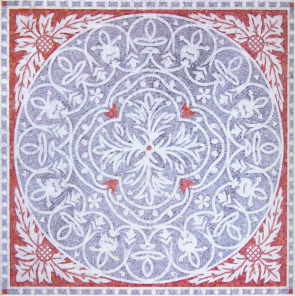 Square Marble Mosaic Floor Rug VS-AFR88