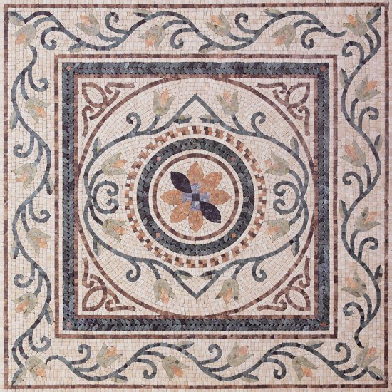 Square Marble Mosaic Floor Rug VS-AFR92