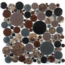 Dark Brown Pebble Bubble Glass Mosaic VG-UPB79