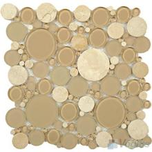 Ivory Pebble Bubble Glass Mosaic VG-UPB80