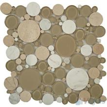 Light Brown Pebble Bubble Glass Mosaic VG-UPB81