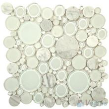 Pearl Pebble Bubble Glass Mosaic Tiles VG-UPB82