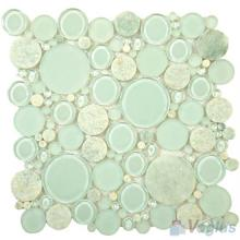 Sky Blue Pebble Bubble Glass Mosaic VG-UPB77