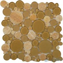Yellow Onyx Pebble Bubble Glass Mosaic VG-UPB78