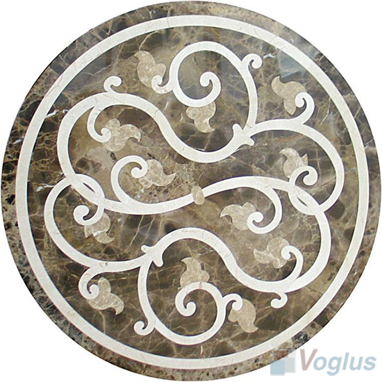 Waterjet Art Marble Mosaic Medallion VS-AMD88