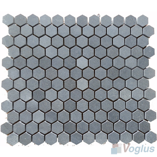 1 inch Small Hexagon Basalt Stone Mosaic VS-BS97