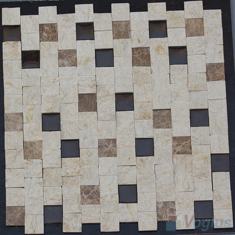 1x1 inch Offline Natural Split Face Stone Mosaic Tile VS-STM91