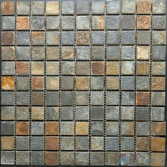 1x1 inch Rusty Slate Mosaic VS-SL92