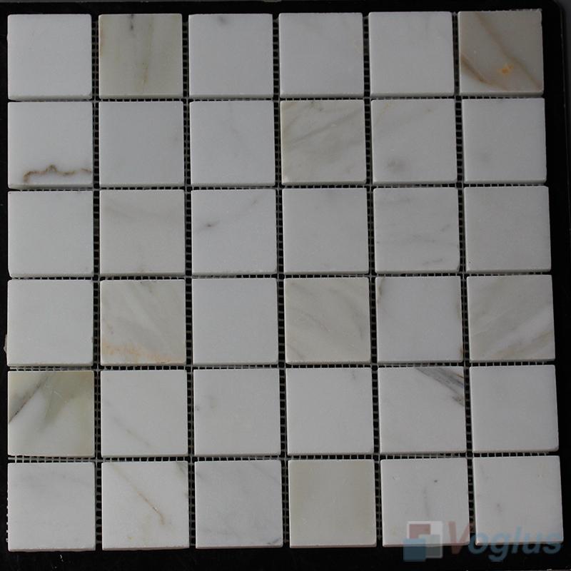 2x2 inch Polished Calacatta Gold Marble Mosaic VS-SEA90