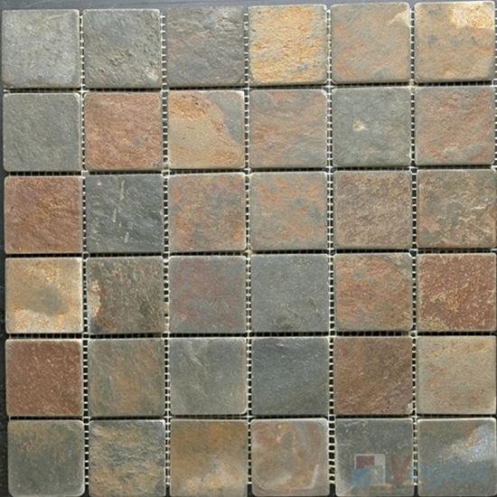 2x2 inch Rusty Slate Mosaic VS-SL93