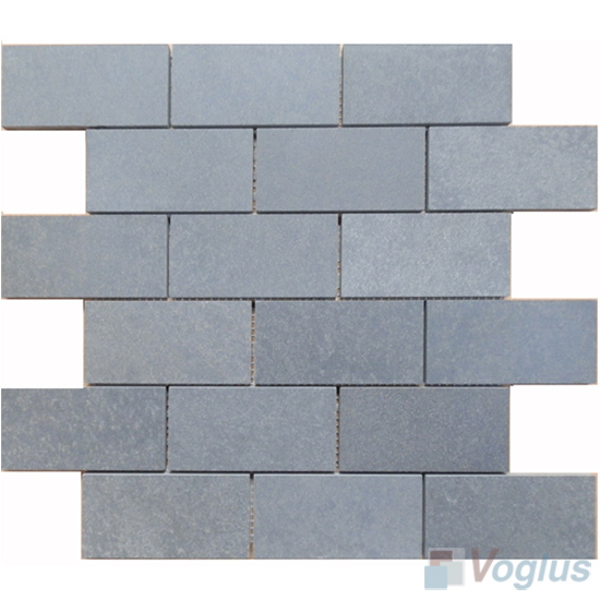 2x4 Large Brick Basalt Stone Mosaic VS-BS96