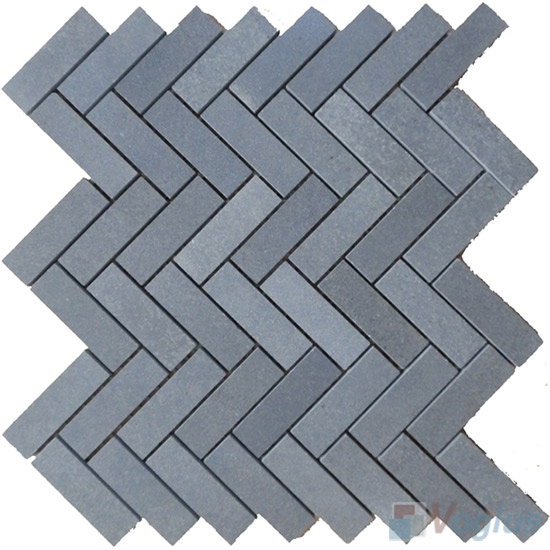 Basalt Polished Herringbone Marble Mosaic VS-PHB91