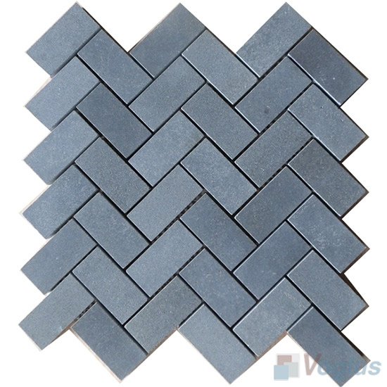 Basalt Polished Herringbone Marble Mosaic VS-PHB93