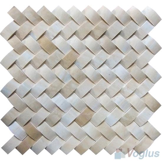 Beige Braided Pattern Stone Mosaic VS-PBD92
