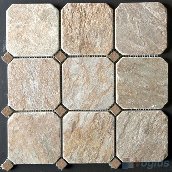 Big Octagon Quartz Stone Mosaic VS-Q93
