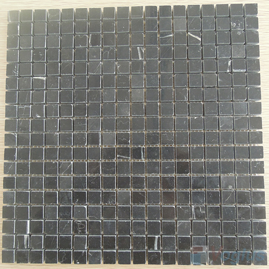 Black Marquina Polished 15x15mm Marble Mosaic VS-MBM97