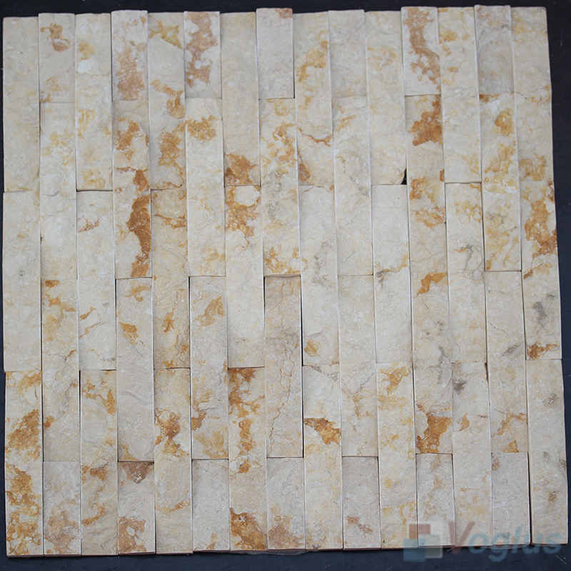 Camber Gold Splender Natural Split Face Stone Mosaic VS-STM85