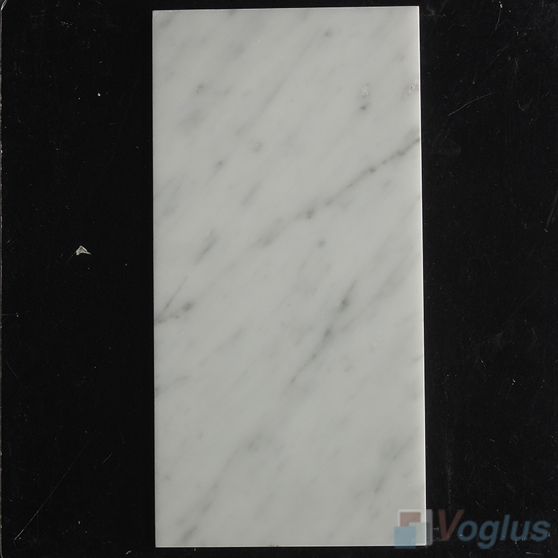 Carrara White 150x305mm 6x12 inch Thin Marble Tile
