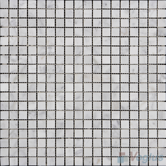 Carrara White 15x15mm Polished Icones Marble Mosaic VS-MCW88