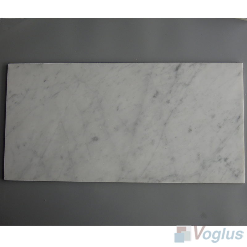 Carrara White 305x610mm 12x24 inch Thin Marble Tile