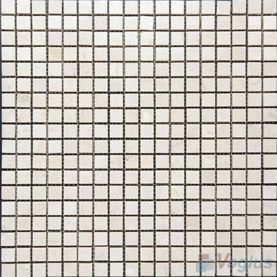 Cream Marfil 15x15mm Polished Marble Mosaic VS-MCM90