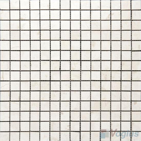 Cream Marfil 1x1 inch Polished Marble Mosaic VS-MCM91