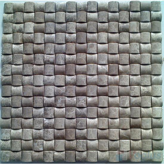 Dark Emperador Small Camber Bread 3D Stone Mosaic VS-PCB88