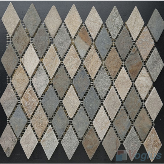Diamond Shaped Quartz Stone Mosaic VS-Q89